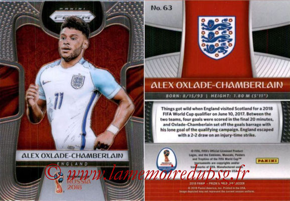 2018 - Panini Prizm FIFA World Cup Russia - N° 063 - Alex OXLADE-CHAMBERLAIN (Angleterre)