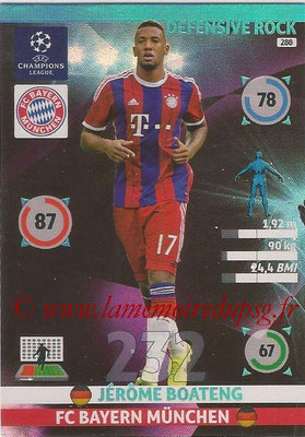 2014-15 - Adrenalyn XL champions League N° 288 - Jerome BOATENG (FC Bayern Munchen) (Defensive Rock)