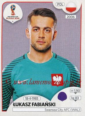 2018 - Panini FIFA World Cup Russia Stickers - N° 594 - Lukasz FABIANSKI (Pologne)