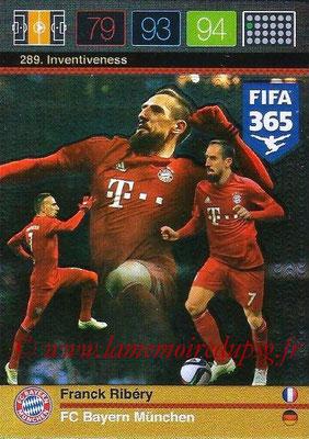 2015-16 - Panini Adrenalyn XL FIFA 365 - N° 289 - Franck RIBERY (FC Bayern Munich) (Inventiveness)