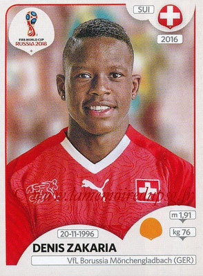 2018 - Panini FIFA World Cup Russia Stickers - N° 384 - Denis ZAKARIA (Suisse)