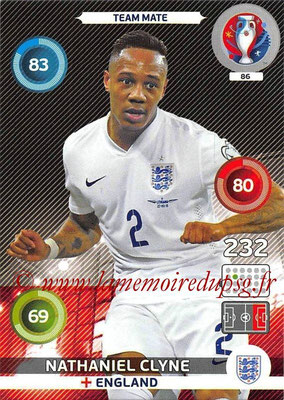 Panini Euro 2016 Cards - N° 086 - Nathaniel CLYNE (Angleterre)