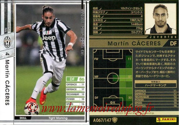 2014-15 - WCCF - N° A067 - Martin CACERES (Juventus FC)