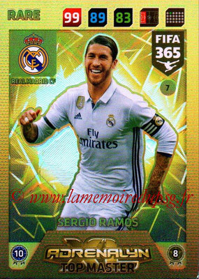 2017-18 - Panini FIFA 365 Cards - N° 007 - Sergio RAMOS (Real Madrid CF) (Top Master)