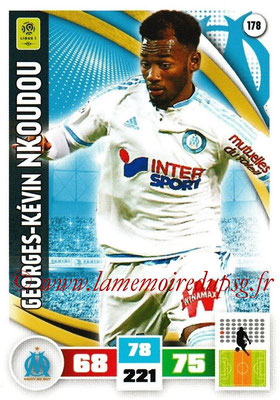 2016-17 - Panini Adrenalyn XL Ligue 1 - N° 178 - Georges-Kevin NKOUDOU(Marseille)