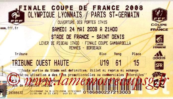 2008-05-24  PSG-Lyon (Finale CF à Saint Denis)