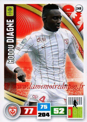 2016-17 - Panini Adrenalyn XL Ligue 1 - N° 248 - Modou DIAGNE (Nancy)