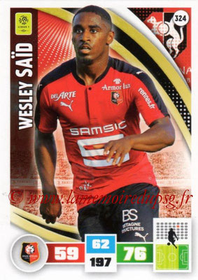 2016-17 - Panini Adrenalyn XL Ligue 1 - N° 324 - Wesley SAÏD (Rennes)