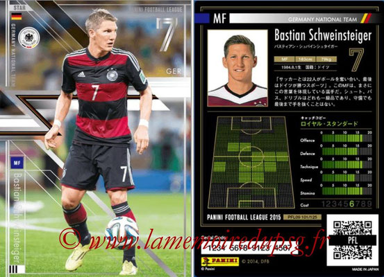 Panini Football League 2015 - PFL09 - N° 101 - Bastian SCHWEINSTEIGER (Allemagne) (Star)