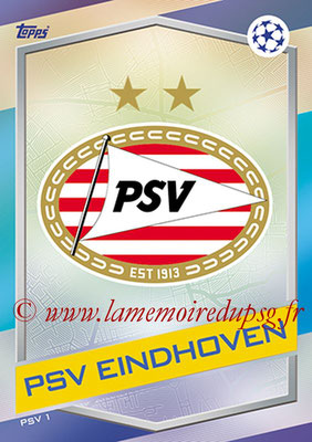 2016-17 - Topps UEFA Champions League Match Attax - N° PSV1 - Logo PSV Eindhoven