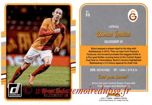 2016 - Panini Donruss Cards - N° 098 - Umut BULUT (Galatasaray AS)