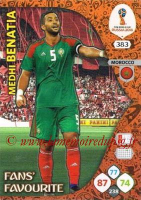 2018 - Panini FIFA World Cup Russia Adrenalyn XL - N° 383 - Medhi BENATIA (Maroc) (Fans' Favourite)