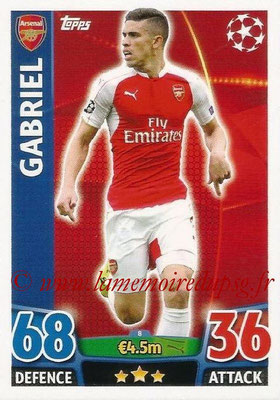 2015-16 - Topps UEFA Champions League Match Attax - N° 008 - GABRIEL (Arsenal FC)