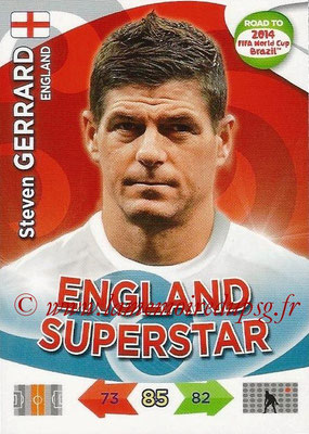 2014 - Panini Road to FIFA World Cup Brazil Adrenalyn XL - N° 067 - Steven GERRARD (Angleterre)