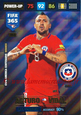 2016-17 - Panini Adrenalyn XL FIFA 365 - N° 368 - Arturo VIDAL (Chili) (Key Player)