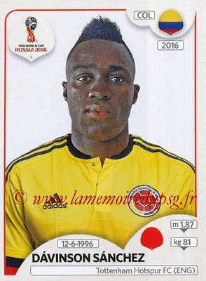 2018 - Panini FIFA World Cup Russia Stickers - N° 638 - Davinson SANCHEZ (Colombie)