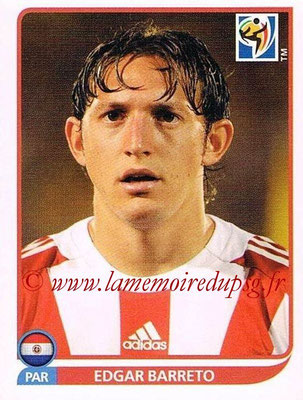 2010 - Panini FIFA World Cup South Africa Stickers - N° 440 - Edgar BARRETO (Paraguay)