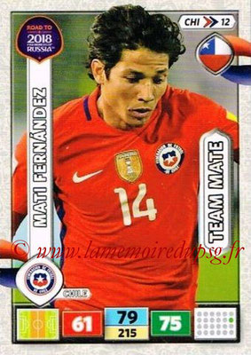 2018 - Panini Road to FIFA World Cup Russia Adrenalyn XL - N° CHI12 - Mati FERNANDEZ (Chili)