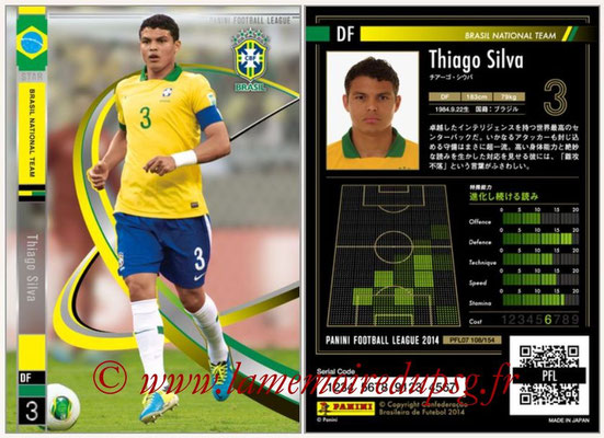 Panini Football League 2014 - PFL07 - N° 108 - Thiago SILVA (Bresil) (Star)