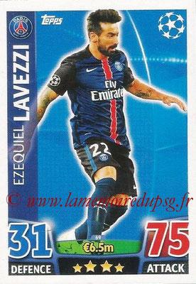 2015-16 - Topps UEFA Champions League Match Attax - N° 069 - Ezequiel LAVEZZI (Paris Saint-Germain)