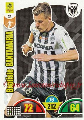 2018-19 - Panini Adrenalyn XL Ligue 1 - N° 024 - Baptiste SANTAMARIA (Angers)