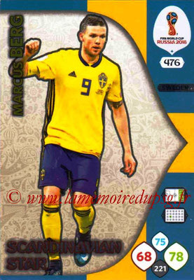 2018 - Panini FIFA World Cup Russia Adrenalyn XL - N° 476 - Marcus BERG (Suede) (Scandinavian Star) (Nordic Edition)
