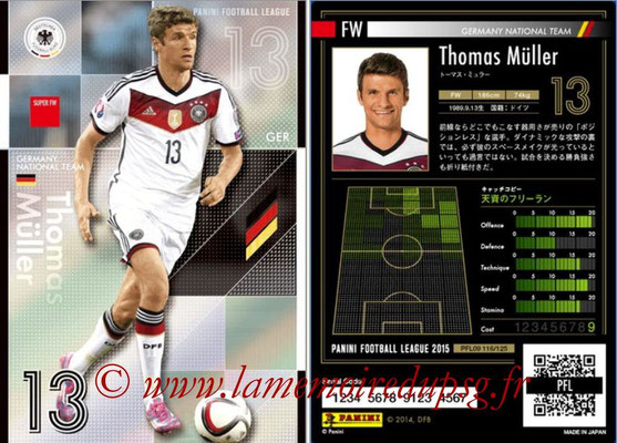 Panini Football League 2015 - PFL09 - N° 116 - Thomas MÜLLER (Allemagne) (Super FW)