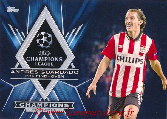 2015-16 - Topps UEFA Champions League Showcase Soccer - N° CP-AG - Andrés GUARDADO (PSV Eindhoven) (Champions Pedigree)
