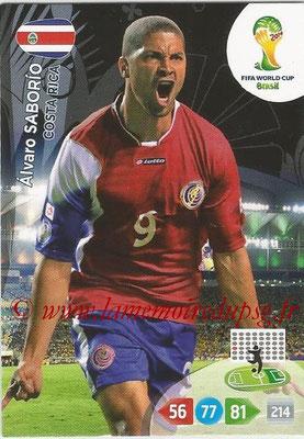 2014 - Panini FIFA World Cup Brazil Adrenalyn XL - N° 093 - Alvaro SABORIO (Costa Rica)