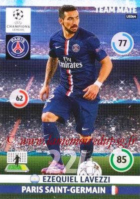 2014-15 - Adrenalyn XL champions League Update edition N° UE064 - Ezequiel LAVEZZI (Paris Saint-Germain)