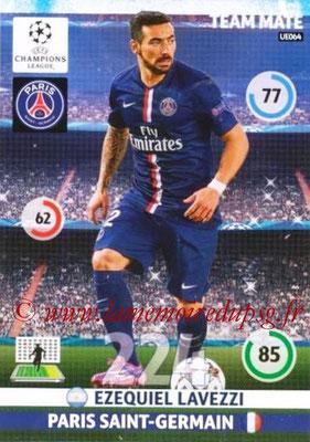 2014-15 - Adrenalyn XL champions League Update edition N° UE064 - Ezequiel LAVEZZI (Paris Saint-Germain)