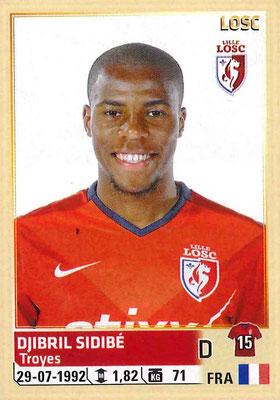 2014-15 - Panini Ligue 1 Stickers - N° 154 - Djibril SIDIBE (Lille OSC)