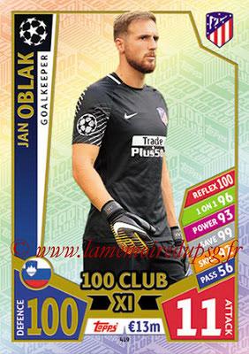 2017-18 - Topps UEFA Champions League Match Attax - N° 419 - Jan OBLAK (Club Atletico de Madrid) (UCL Club XI)