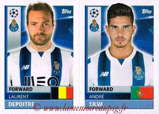 2016-17 - Topps UEFA Champions League Stickers - N° QFJ 15-16 - André SILVA + Laurent DEPOITRE (FC Porto)