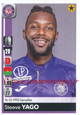 2018-19 - Panini Ligue 1 Stickers - N° 484 - Steeve YAGO (Toulouse)