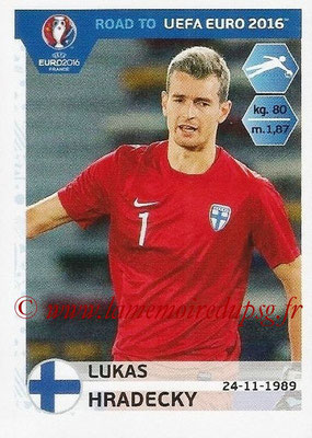 Panini Road to Euro 2016 Stickers - N° 321 - Lukas HRADECKY (Finlande)