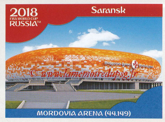2018 - Panini FIFA World Cup Russia Stickers - N° 017 - Mordovia Stadium, Saransk (Stades et Villes)