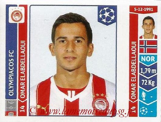 2014-15 - Panini Champions League N° 085 - Omar ELABDELLAOUI (Olympiacos FC)