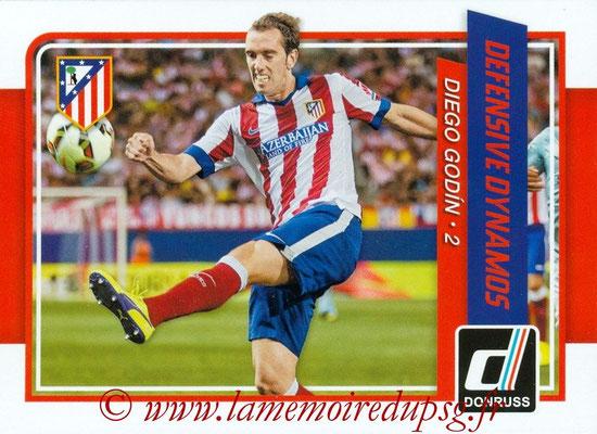 2015 - Panini Donruss Soccer - N° DD01 - Diego GODIN (Atletico de Madrid) (Defensive Dynamos)