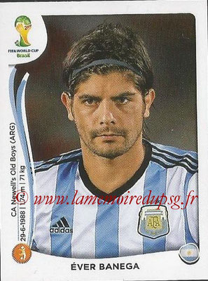 2014 - Panini FIFA World Cup Brazil Stickers - N° 423 -Ever BANEGA (Argentine)