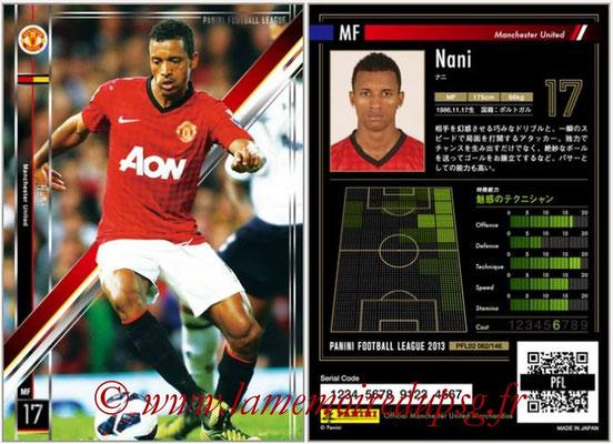 Panini Football League 2013 - PFL02 - N° 062 - Nani ( Manchester United  )