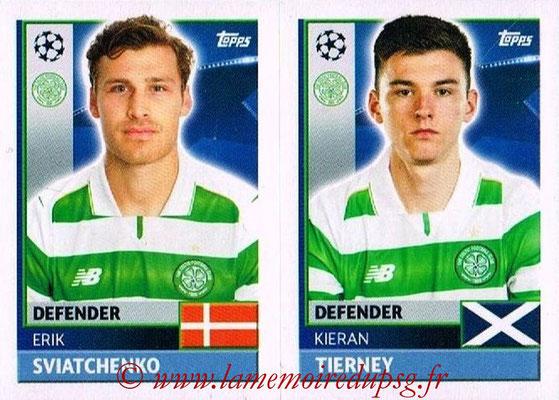 2016-17 - Topps UEFA Champions League Stickers - N° QFB 5-6 - Kieran TIERNEY + Erik SVIATCHENKO (Celtic FC)