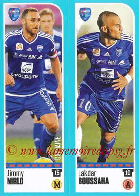 2016-17 - Panini Ligue 1 Stickers - N° 861 + 862 - Jimmy NIRLO + Lakdar BOUSSAHA (Bourg en Bresse)
