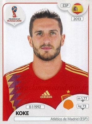 2018 - Panini FIFA World Cup Russia Stickers - N° 144 - KOKE (Espagne)