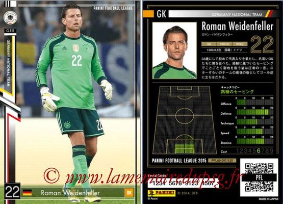 Panini Football League 2015 - PFL09 - N° 097 - Roman WEIDENFELLER (Allemagne)