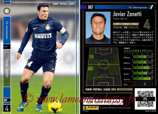 Panini Football League 2014 - PFL08 - N° 019 - Javier ZANETTI (Inter)