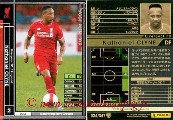 2015-16 - Panini WCCF - N° 034 - Nathaniel CLYNE (Liverpool FC)