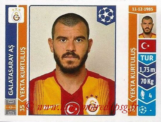 2014-15 - Panini Champions League N° 303 - Yekta KURTULUS (Galatasaray AS)
