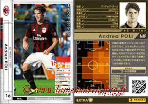 2015-16 - Panini WCCF - N° EXT04 - Andrea POLI (Milan AC) (Extra)