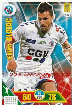 2017-18 - Panini Adrenalyn XL Ligue 1 - N° 317 - Jérémy BAIYAC (Strasbourg)